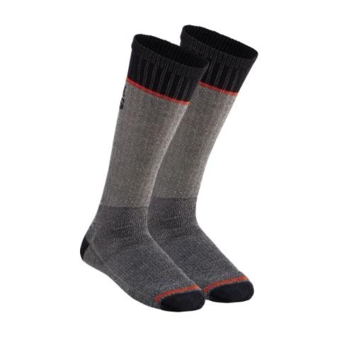 Merino Wool Thermal Socks, Mid-Length, Gray, Extra Large