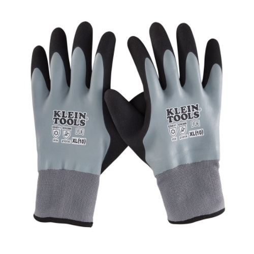 Thermal Dipped Gloves, Gray, Extra Large