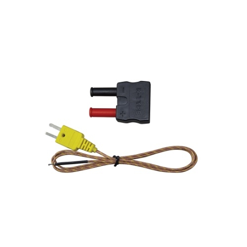 K-Type High Temperature Thermocouple with Banana Plug Adapter