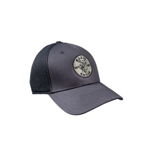 New Era Fitted Mesh Cap, Medium/Large, Gray