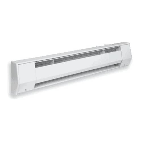 500W Baseboard Heater, Low Density, 240 V, 27 Inch, Bright White