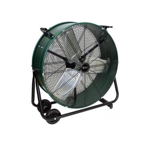 24-in Direct Drive Drum Fan, Swivel, 7300 CFM, 120V, Green