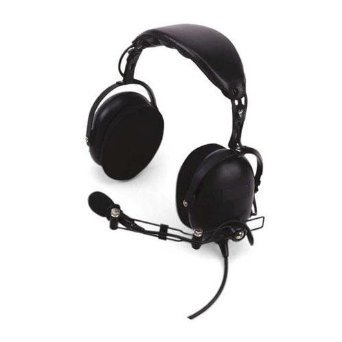 Heavy-Duty Noise Reduction Over-the-Headset with Noise Canceling Boom Mic & in-line push-to-talk (Black)