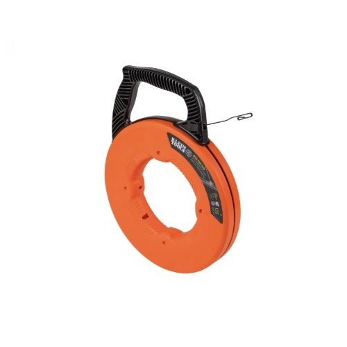 120-Ft Steel Fish Tape w/ Case, Orange