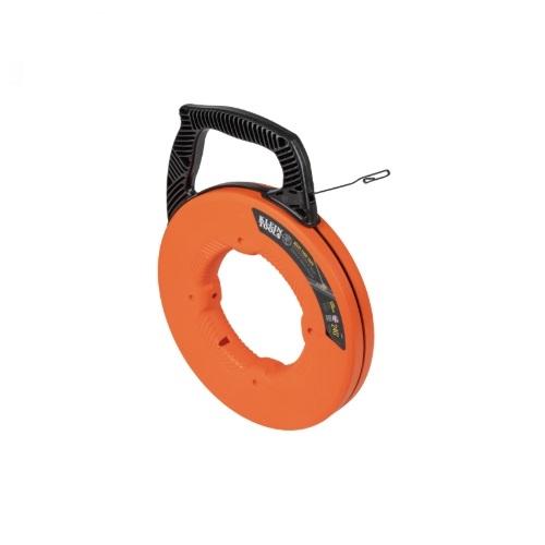 240-Ft Steel Fish Tape w/ Case, Orange