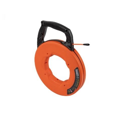 100-Ft Multi-Groove Fiberglass Fish Tape w/ Nylon Tip, Orange