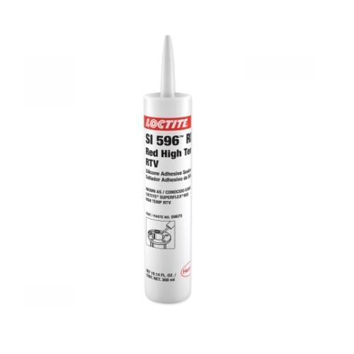 6.42 oz Silicone Adhesive Sealant, High Temp RTV, Red
