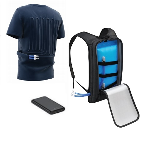 BodyCool Cooling T-Shirt, Blue, Large