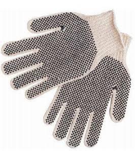 Large 7 Gauge PVC Dot String Knit Gloves
