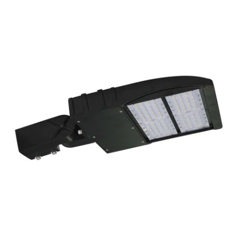 150W LED Shoebox Light Fixture w/ Adjust Slip Fitter, Photocell, 5000K