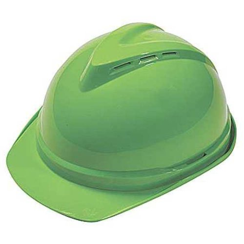 Msa 25713 Hi Viz Lime Green V Gard 500 Protective Caps