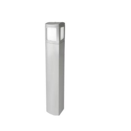 6-Ft 24W LED MPulse Bollard Fixture, 0-10V Dim, 100W MH Retrofit, 1606 lm, 5000K, Silver