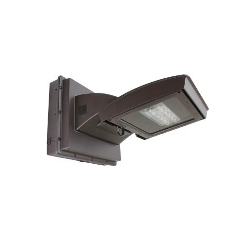 28W LED Wall Light w/ 0 Deg Backup & Sensor, Type IV, 3200 lm, 120V-277V, 4000K