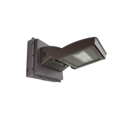 55W LED Wall Light w/ 0 Deg Backup, Type IV, 6200 lm, 120V-277V, 4000K