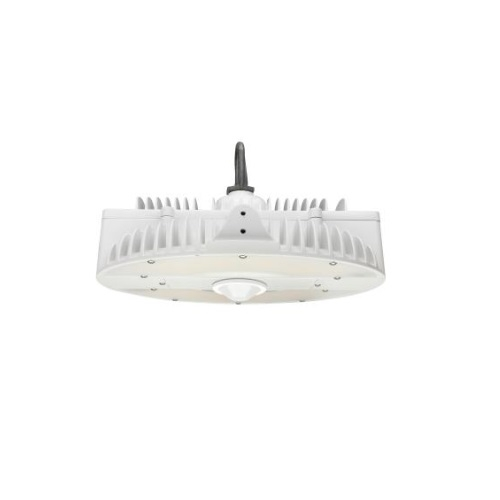 130W LED Round High Bay Pendant w/ Battery Backup, Dim, 17495 lm, 4000K, White