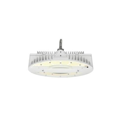 130W LED Round High Bay Pendant w/ Battery Backup, Dim, 19325 lm, 4000K, White