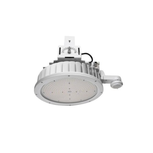 240W LED Round High Bay Pendant w/ Sensor, 600W MH Retrofit, 5000K, White