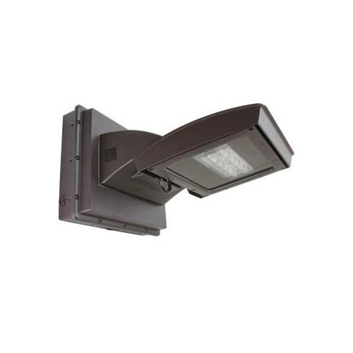 55W LED Wall Light w/ 0 Deg Backup, Type III, 6200 lm, 120V-277V, 4000K