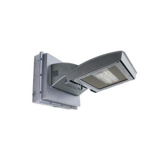 55W LED Wall Light w/ 0 Deg Backup, Type IV, 6250 lm, 120V-277V, 5000K, Silver
