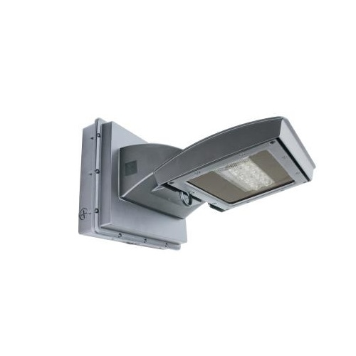 55W LED Wall Light w/ 0 Deg Backup, Type IV, 6200 lm, 120V-277V, 4000K, Silver