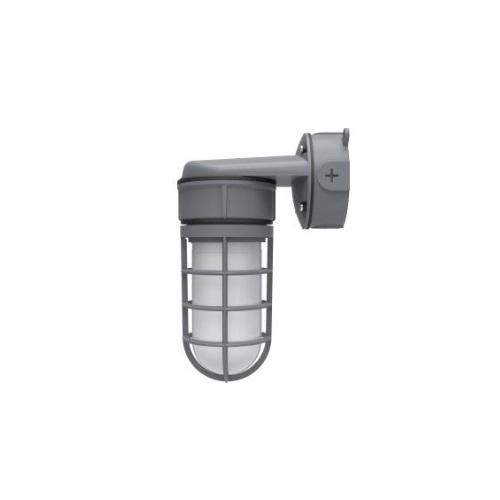 24W LED Vapor Tight Jelly Jar w/ Wall Mount, 150W Inc. Retrofit, 1890 lm, 3000K
