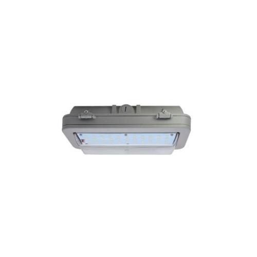 43W Hazard Rated LED Wall Pack, 150W HID Retrofit, 5538 lm, 5000K, Grey