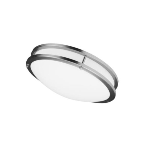 22W LED Flush Mount Ceiling Fixture, 100W Inc Retrofit, Dim, 1898 lm, 3000K