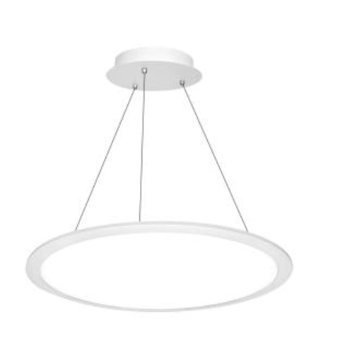 2' 40W LED Pendant Panel Light, Round, Indirect/Direct Model, 0-10V Dim, 3200lm, 3500K