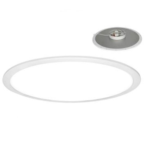 2' 40W LED Pendant Panel Light, Round, Direct Model, 0-10V Dim, 3200 lm, 4000K