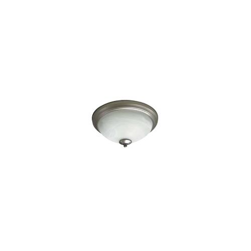 23W LED Flush Mount Ceiling Fixture, 100W Inc Retrofit, Dim, 1567 lm, 2700K, Nickel