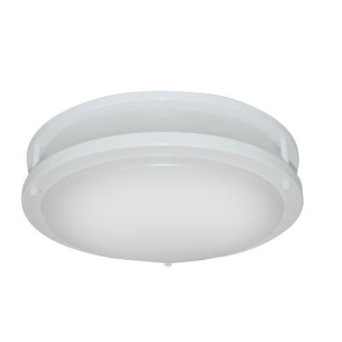 14-In 17W LED Flush Mount Ceiling Light, Dimmable, 75W Inc Retrofit, 1203lm, 2700K, White