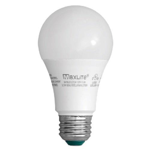 9.5W LED A19 Omni-Directional Bulb with E26 Base, 2700K