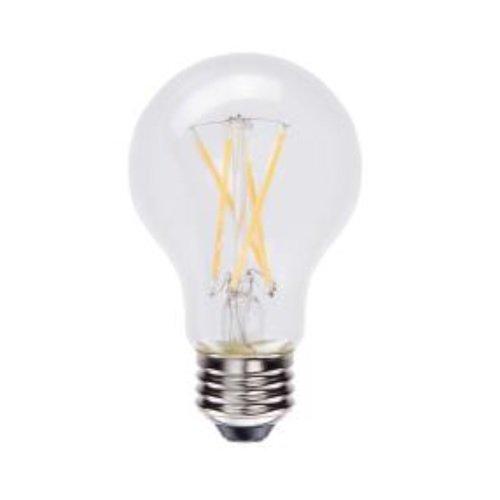 7W LED A19 Filament Glass Bulb, Dimmable, 2700K, 800 Lumens