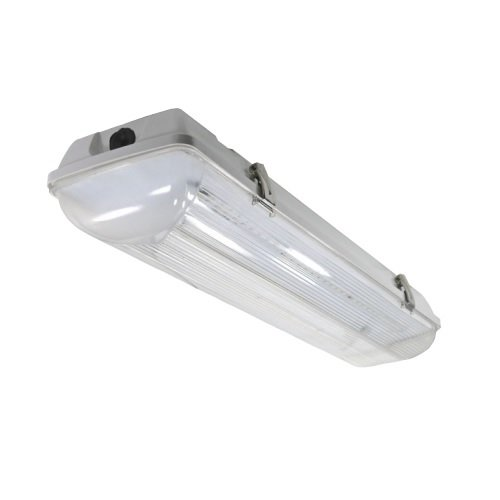 30 Watts 5000K LED Vapor Tight Linear Fixture 24 Inches with Motion Sensor
