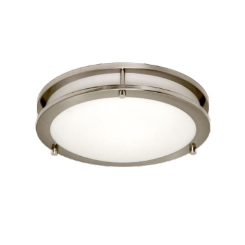 """11 Watts 2700K 11"""" LED Flush Mount Architectural Ceiling Fixture, Brushed Nickel"""