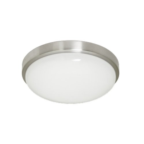 "11W 2700K 11"" LED Flush Mount Contemporary Ceiling Fixture, Brushed Nickel"