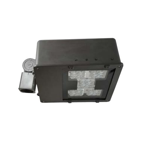 100 Watt LED Large Flood Light, 347-480V ,Type V Flood, Bronze