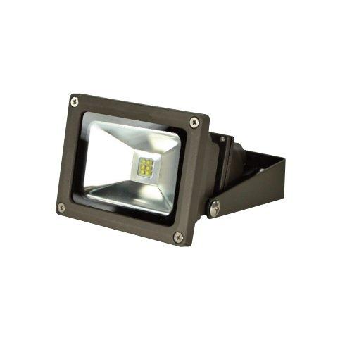 14 Watt LED Small Flood Light, 120-277V, ,Type V Flood, Bronze, Small Yoke Mount