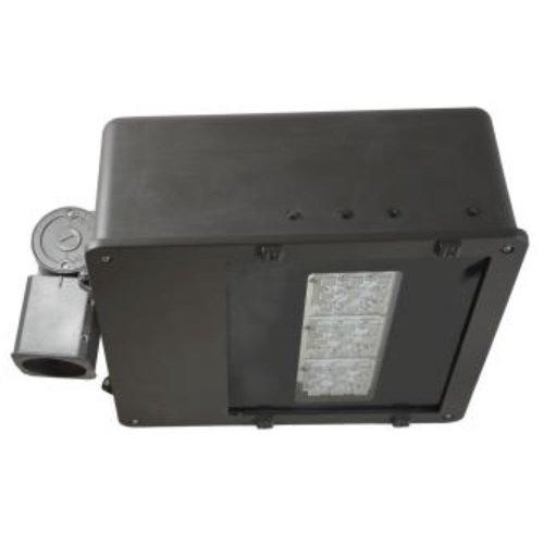 62 Watt 5000K LED Large Flood Light, 120-277V, Type V, Bronze, Motion/Daylight Sensor