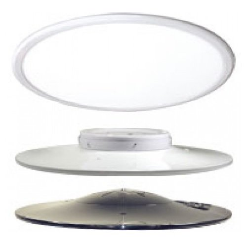"45 Watts 3500K 24"" Diameter LED Round Pendant, White"
