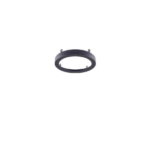7-in Trim for Flush Mount Disk Fixtures, Black