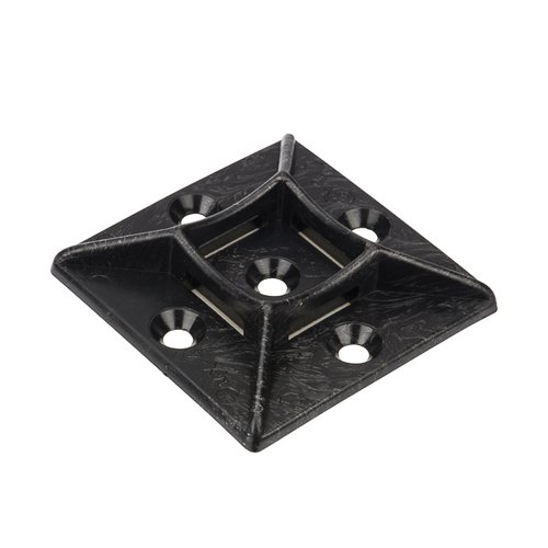 ".75x.75"" Adhesive Tie Mount, Black, 100/Pack"