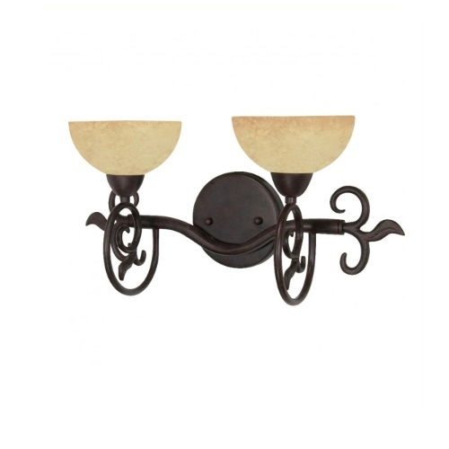 """18"""" Tapas Vanity Light, Tuscan Suede Glass, Old Bronze"""