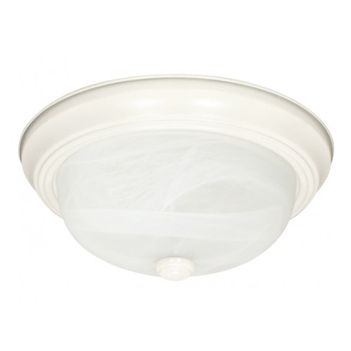 Nuvo 3 Light 15 Flush Mount Ceiling Fixture Textured White