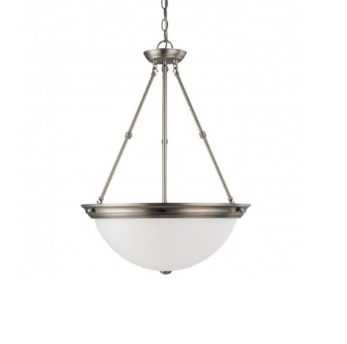 6in Ceiling Light Fixture, 1-light, Brushed Nickel