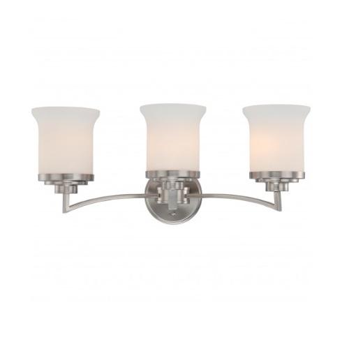 Harmony Vanity Fixture, Satin White Glass