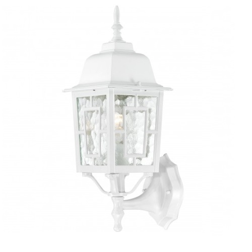 """17"""" Banyon Outdoor Wall Lights, Clear Water Glass, White"""