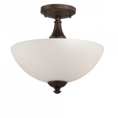 Patton Semi-Flush Mount, 3-Light, Brushed Nickel