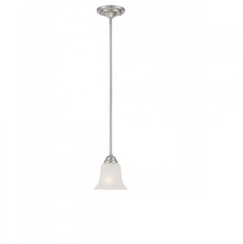 finest selection c1bb9 66d3b Nuvo 60W Elizabeth Mini Pendant Light, 1-Light, Brushed Nickel