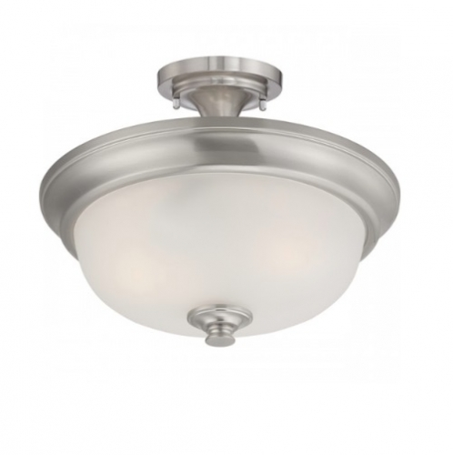 60W Elizabeth Semi-Flush Light, 2-Light, Brushed Nickel
